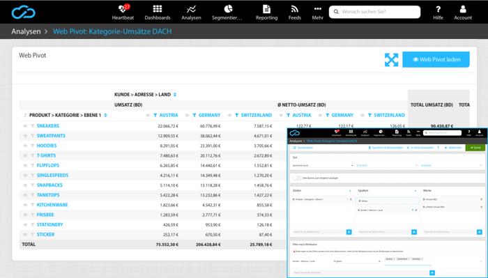 Web Pivot für Ad-hoc Analytics in minubo