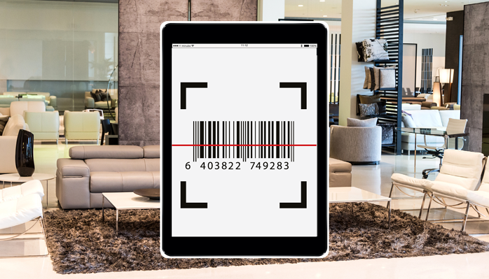 Barcode Scanner in the minubo Store Monitor