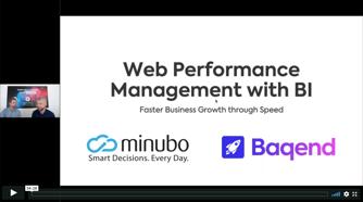 Webinar_Baqend_minubo_WebPerformance with BI